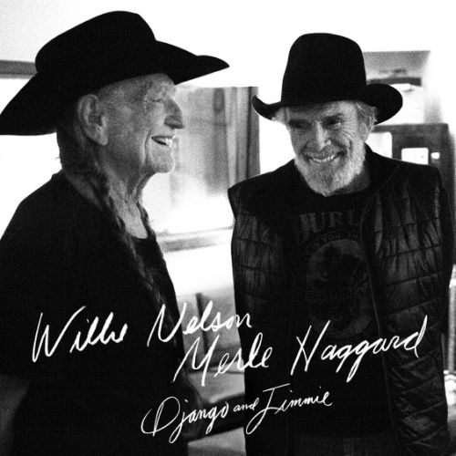 "This photo provided by Sony Music shows the album cover of ""Django & Jimmie,"" (Sony Legacy) by Willie Nelson and Merle Haggard. (Sony Music via AP)"